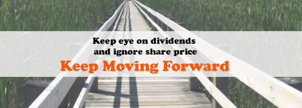 Keep eye on dividends and ignore share prices