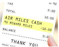 how to use air miles to buy groceries